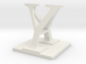 Two way letter / initial A&Y in White Natural Versatile Plastic