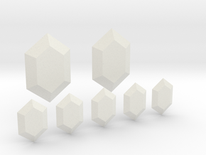 Rupees in White Natural Versatile Plastic