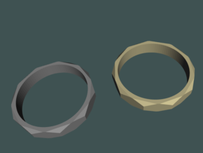 beveled ring   in Natural Brass: 10.5 / 62.75