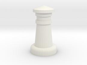Chess Castle in White Strong & Flexible