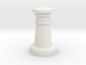 Chess Castle in White Natural Versatile Plastic