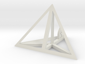 Tetrahedron in White Natural Versatile Plastic