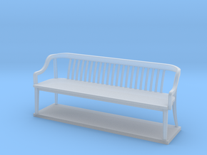 Miniature 1:48 Bankers Bench in Frosted Ultra Detail