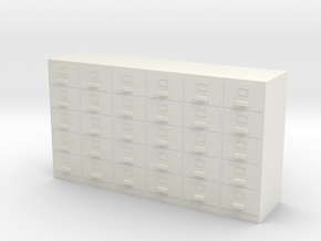Miniature 1:48 Filing Cabinet in White Strong & Flexible