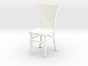 Miniature 1:24 Cafe Chair in White Processed Versatile Plastic