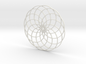 Flower of Life in White Natural Versatile Plastic