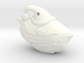 Oregon State Beaver Santa Ornament in White Processed Versatile Plastic