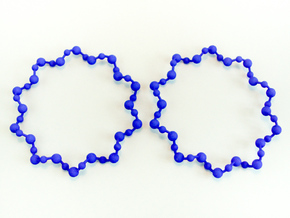 Molecule Big Hoop Earrings 60mm in Blue Processed Versatile Plastic