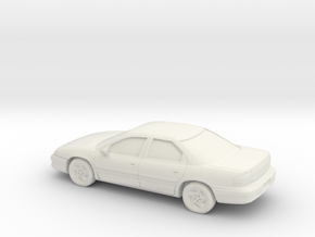 1/87 1993 Dodge Intrepid in White Natural Versatile Plastic