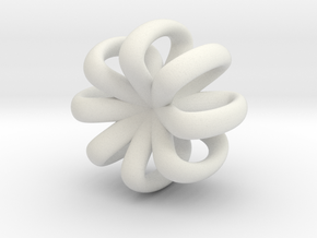Rotating Infinity in White Natural Versatile Plastic
