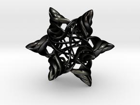 Rhombic Triacontahedron V, medium in Matte Black Steel