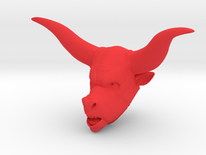 Minotaur in Red Processed Versatile Plastic
