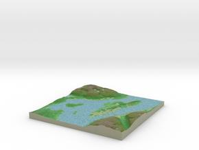 Terrafab generated model Fri Dec 19 2014 23:52:10  in Full Color Sandstone