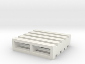 "2"" Shipping Pallet Miniature in White Natural Versatile Plastic"