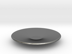 Large plate 1/12 in Polished Silver