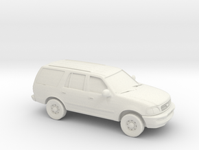1/87 1999 Ford Expedition in White Natural Versatile Plastic