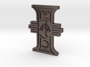 Rosette Adeptus Arbites in Polished Bronzed Silver Steel