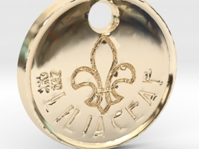 ZWOOKY Style 72 Sample - keychain lily in 14K Gold