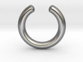 Simple Faux Septum Ring in Natural Silver