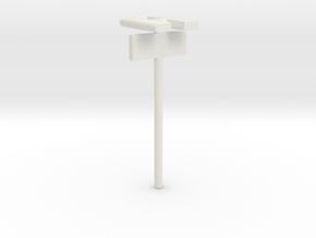 1/160 - DSB Stations lampe (dobbelt) med Perronafs in White Strong & Flexible