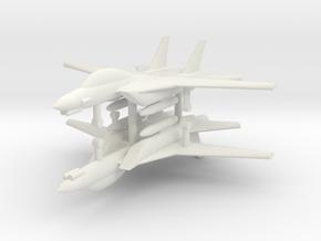 1/285 F-14D Tomcat (x2) in White Natural Versatile Plastic