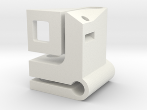 Flexure Mount Left in White Natural Versatile Plastic