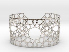 Silver Cairo Arab Bracelet in Platinum