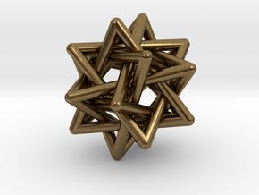 Merkaba Pendant in Natural Bronze