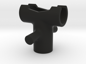 Tripod T-Joint  in Black Natural Versatile Plastic