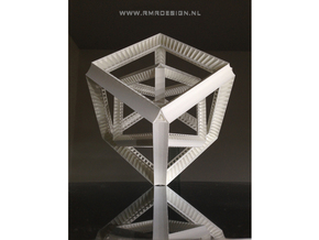 Cube hypercube geometry  in White Natural Versatile Plastic