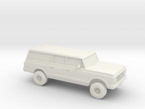 1/87 1972 Chevy Suburban in White Strong & Flexible