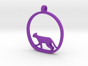 Cat in Purple Processed Versatile Plastic