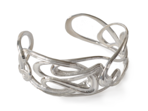 Mucha Nouveau Bracelet in Polished Silver