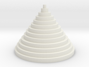 The Circle Pyramid in White Natural Versatile Plastic