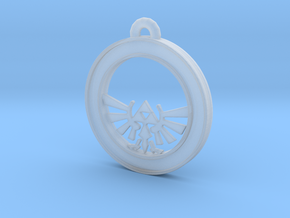 Tri-force Circle-pendant in Smooth Fine Detail Plastic