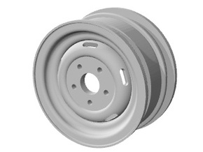 Pinzgauer rim 1.55 (single) in White Natural Versatile Plastic