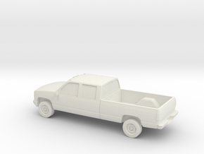 1/87 1998 GMC 2500 Crew Cab in White Natural Versatile Plastic