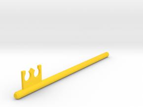 Inventing Room key Left Key (5 of 9) in Yellow Processed Versatile Plastic