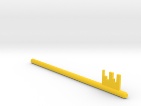 Inventing room key Right Key (6 of 9) in Yellow Processed Versatile Plastic