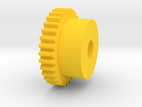 Inventing room key Center Gear (7 of 9) in Yellow Processed Versatile Plastic