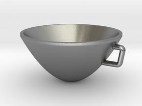 Parabolic Cup in Natural Silver
