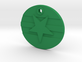 Firefly Browncoat Logo Mal Necklace in Green Processed Versatile Plastic