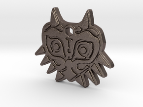 Zelda Majoras Mask Necklace in Polished Bronzed Silver Steel