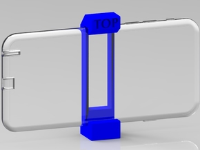 iPhone 6 Plus Tripod Mount in Blue Strong & Flexible Polished