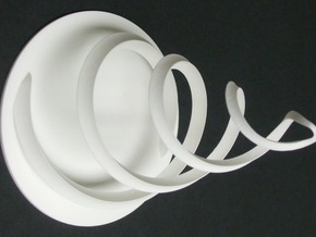 Intertwined 15cm 12 6 2014 in White Natural Versatile Plastic
