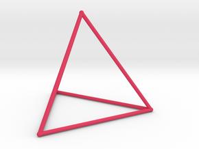 Tetrahedron (100 cc) in Pink Processed Versatile Plastic