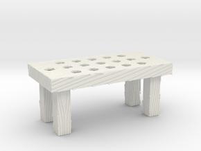 Great Rebellion Diorama Accessories - Wooden Table in White Natural Versatile Plastic