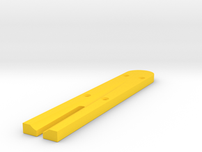 Pinball - Shooter Lane Insert in Yellow Processed Versatile Plastic