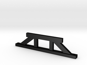Victorian Railways inspection pit pier in Matte Black Steel