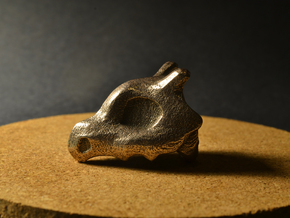 Cubone Ring in Polished Bronzed Silver Steel